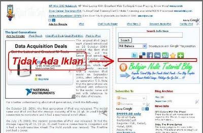Menampilakan Widget Di Home Page Blogger